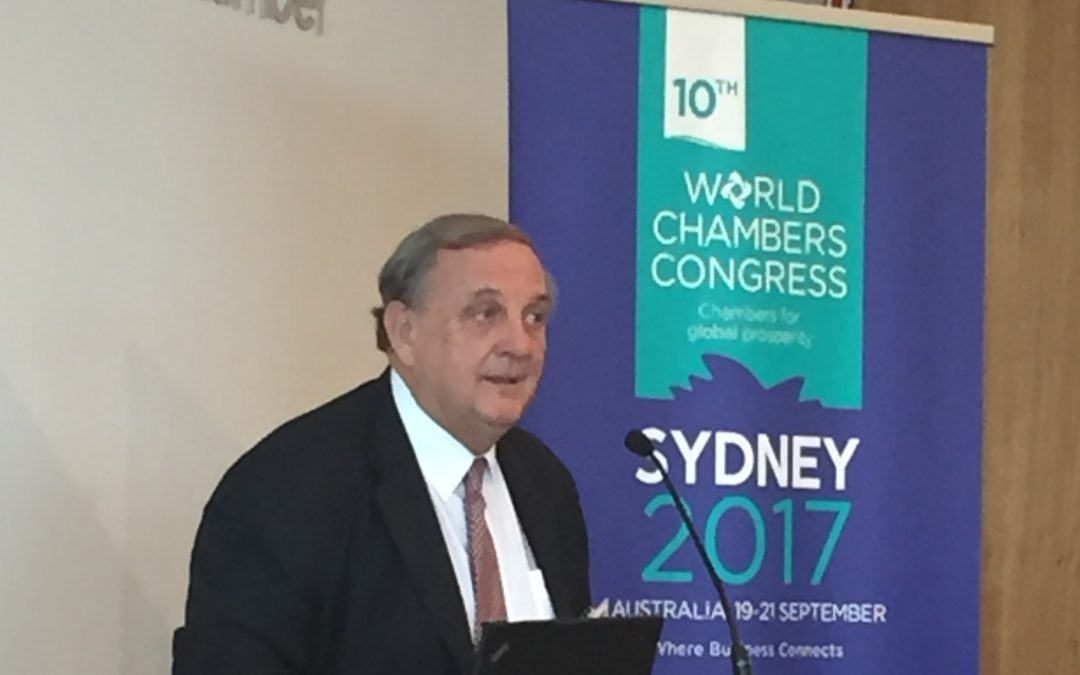 NSW Business Chambers lunch to promote the World Chambers Congress to be held in Sydney Sept 2017